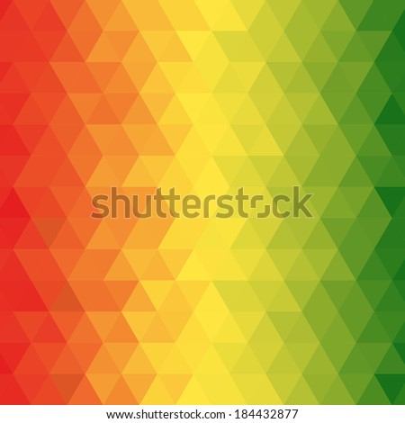 Abstract reggae geometric pattern with for background, Vector