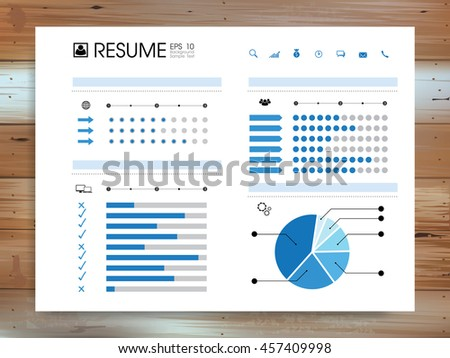 Abstract Resume Info Graphic Background On Stock Vector 457580980