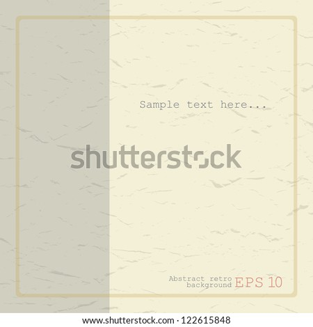 Abstract retro background. Paper texture