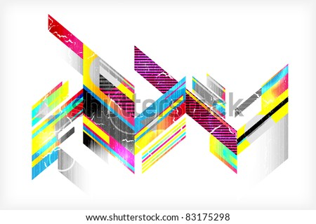 Abstract retro background. Vector illustration (eps10). - stock vector