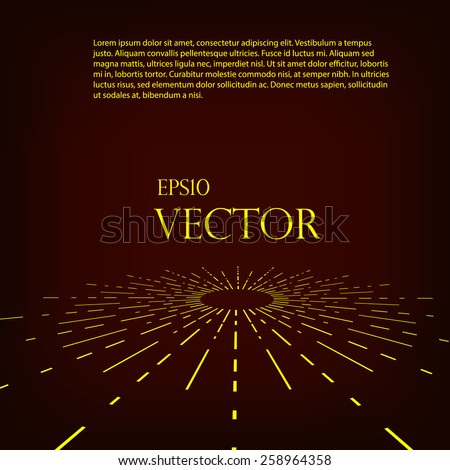 Abstract retro background with radial stripes - stock vector
