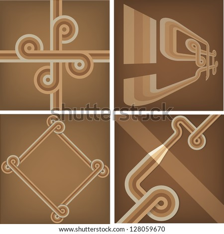 Abstract retro backgrounds - stock vector