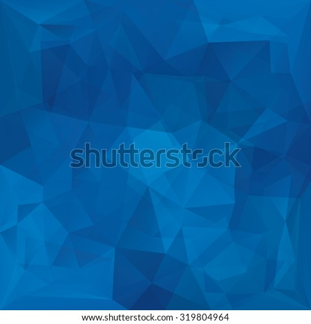 Abstract retro blue triangles vector background. - stock vector