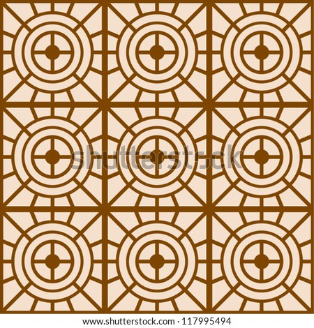 Abstract retro brown seamless pattern. - stock vector