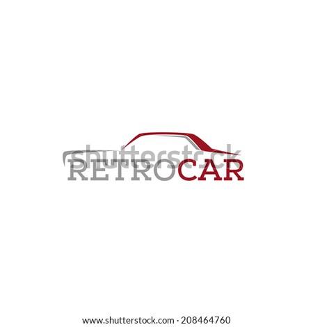 abstract retro car design concept salon vector logo design template - stock vector