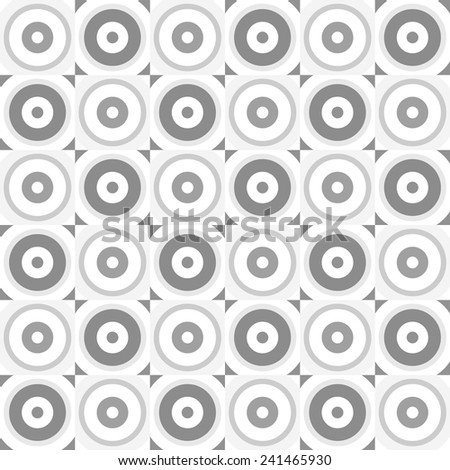 Abstract retro circles seamless pattern.  - stock vector