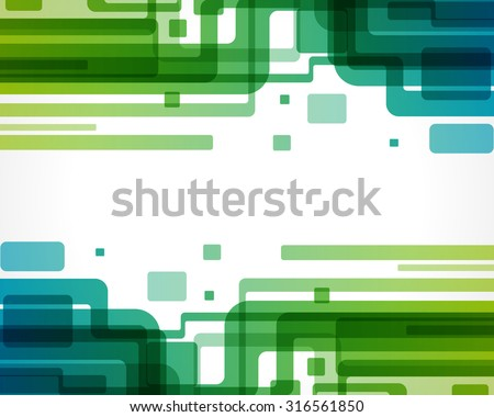 Abstract retro digital technology lines motion design vector background - stock vector