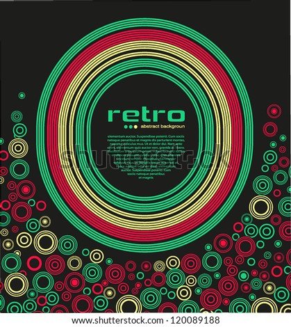 abstract retro disco background - vector. - stock vector