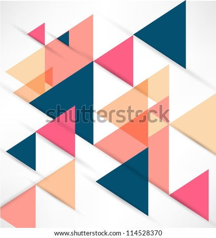 Abstract Retro Geometric Background - stock vector