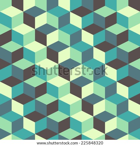 abstract retro geometric pattern vector for design - stock vector