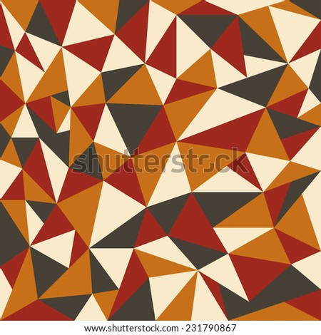 Abstract retro geometrical background - Vector