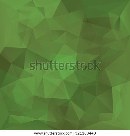 Abstract retro green triangles vector background. - stock vector