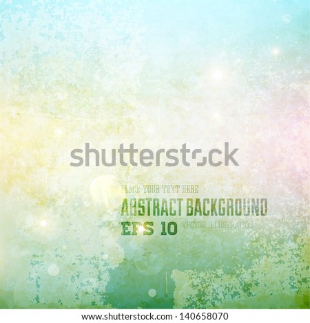 Abstract retro grunge background - stock vector