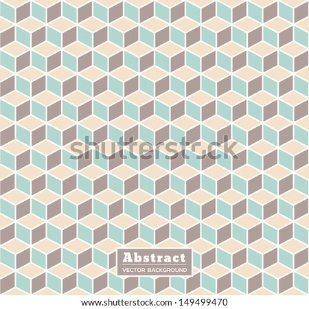 Abstract Retro Isometric Shape Background for Business / Web Design / Print / Presentation - stock vector