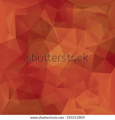 Abstract retro red triangles vector background. - stock vector