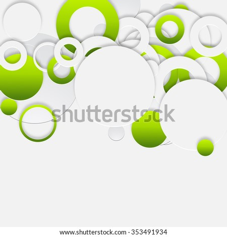 abstract retro round pattern background