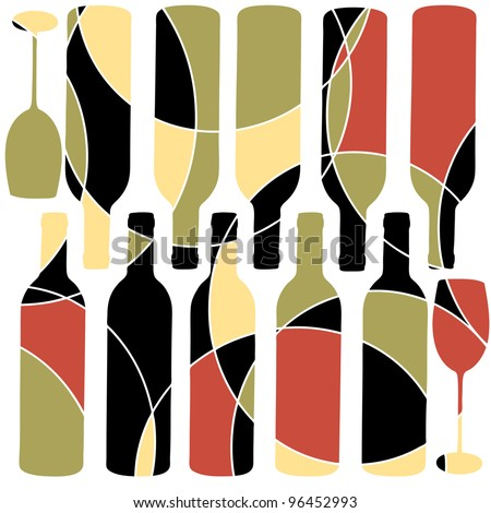 Abstract retro style wine background
