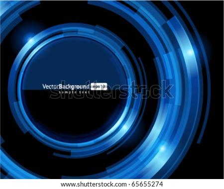 Abstract retro technology circles vector background - stock vector