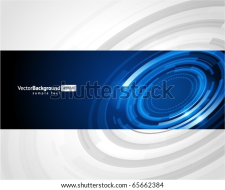 Abstract retro technology circles vector background - stock vector