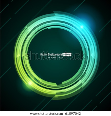 Abstract retro technology circles vector background. Eps 10 - stock vector