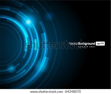 Abstract retro technology circles vector background. Eps 10 - stock vector