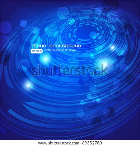 Abstract retro technology circles vector background. Eps 10
