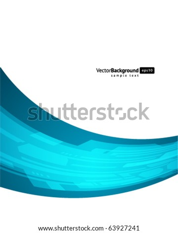 Abstract retro technology lines in perspective vector background - stock vector
