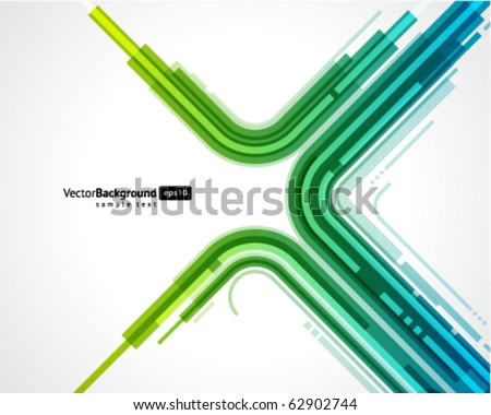 Abstract retro technology lines vector background. Eps 10 - stock vector