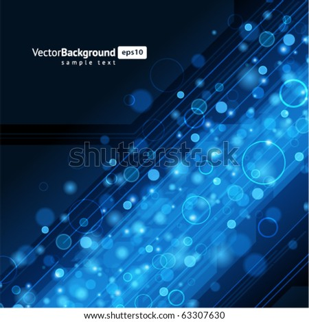 Abstract retro technology lines with bokeh vector background. Eps 10 - stock vector