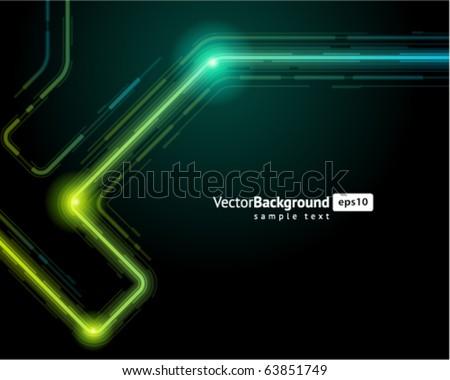 Abstract retro technology microchip vector background - stock vector