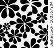 Abstract retro vintage seamless pattern in black and white - stock vector