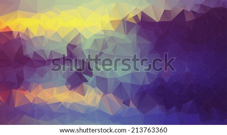 Abstract retro violet polygonal background. Triangles background for your design - stock vector