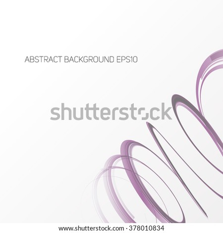 Abstract Ribbon on White Background. Design Element for Graphic Design / Party Flyers / Business Presentation / Posters. Vector Illustration.