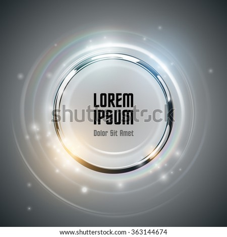 Abstract ring background with light effect - stock vector