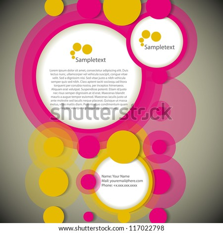 Abstract rings new web design, vector template - stock vector