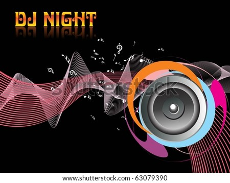 abstract rocking dj night background, illustration