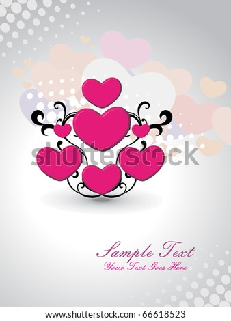 ABSTRACT ROMANTIC BACKGROUND FOR LOVE - stock vector