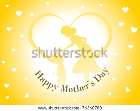 abstract romantic concept wallpaper for happy mother's day celebration