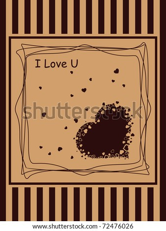 abstract romantic love background, vector illustration - stock vector