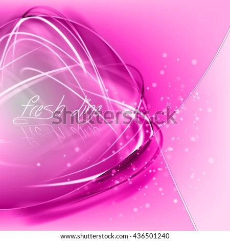 Abstract rose vector background . Stylish frame with pure shiny fibers