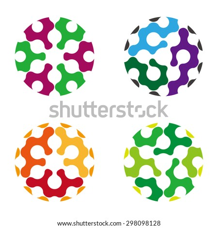 Abstract round icon. Vector design bubble logo template.You can use in the media, public groups, alliances, biotechnology, mutual aid associations and other social welfare agencies.