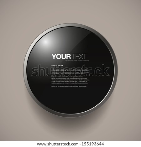 Abstract round metal frame text box design with your text Eps 10 vector illustration - stock vector