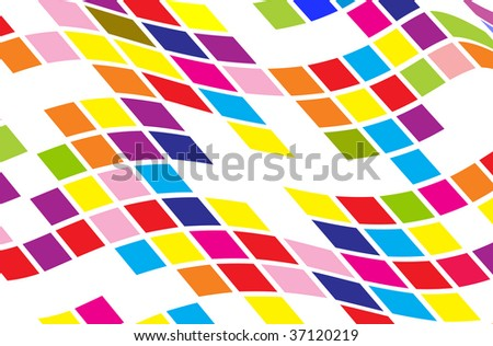 abstract round pixel points mosaic background