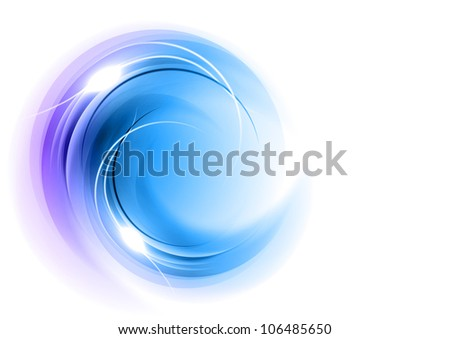 abstract round shape in the blue - stock vector