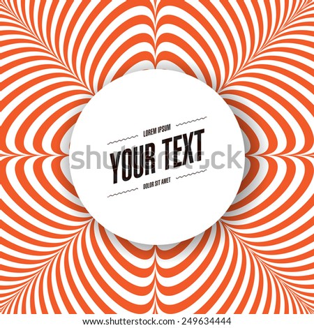 Abstract round text box design with minimal red and white background Eps 10 stock vector illustration  - stock vector