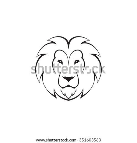 abstract round vector logo head lion stock vector