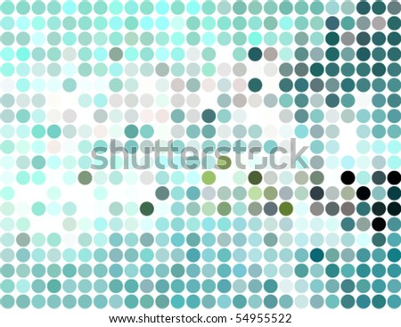 abstract rounded pixel mosaic background - stock vector
