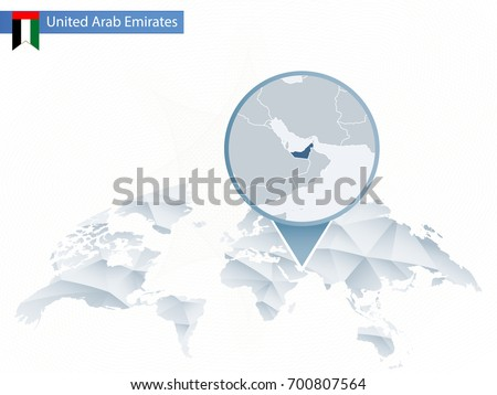 Uae map stock images royalty free images vectors shutterstock abstract rounded world map with pinned detailed united arab emirates map map and flag of sciox Gallery