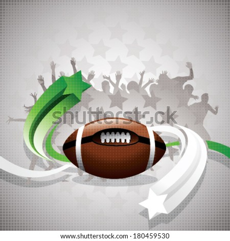 abstract rugby background - stock vector