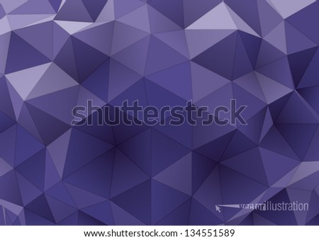 abstract rumpled triangular background,  low poly style illustration
